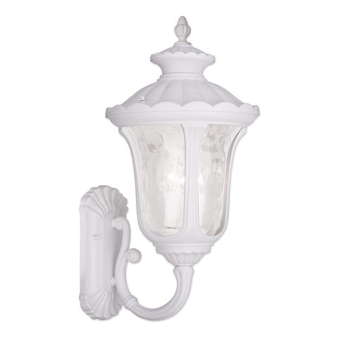 Oxford 3-Light White Outdoor Wall Lantern