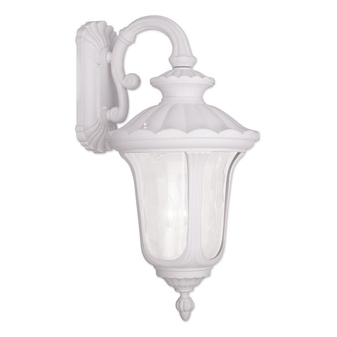Oxford 3-Light Outdoor Wall Lantern in White