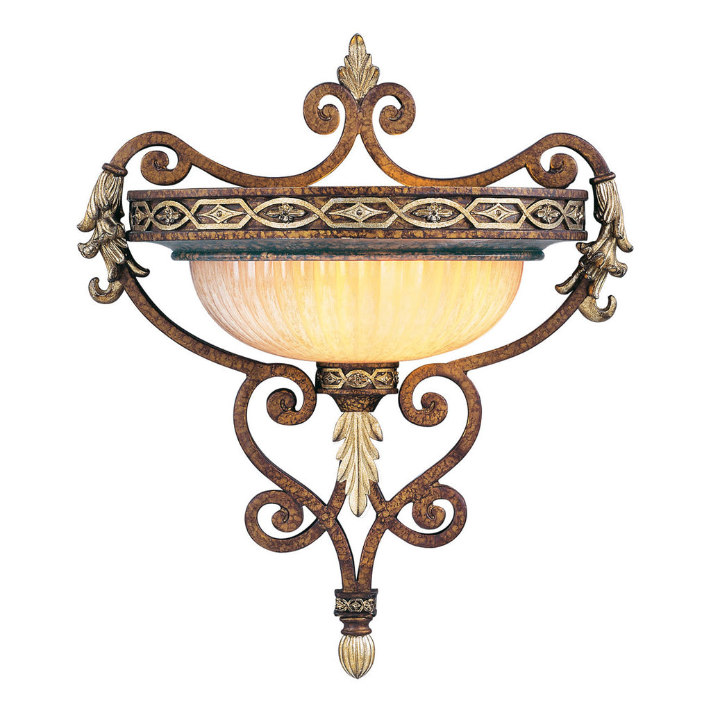 Seville 1-Light Palacial Bronze with Gilded Accents Wall Sconce