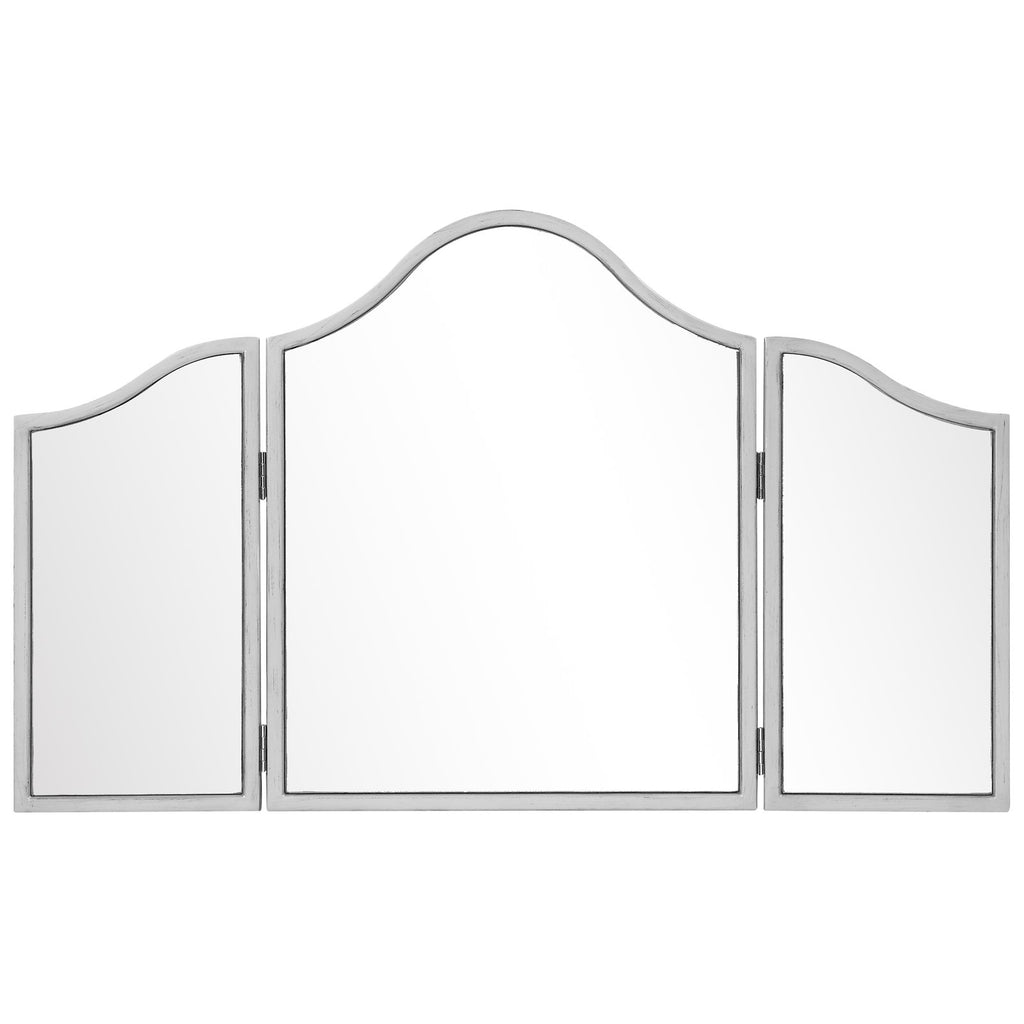 Chamberlan 39-Inch Contemporary Mirror in Silver