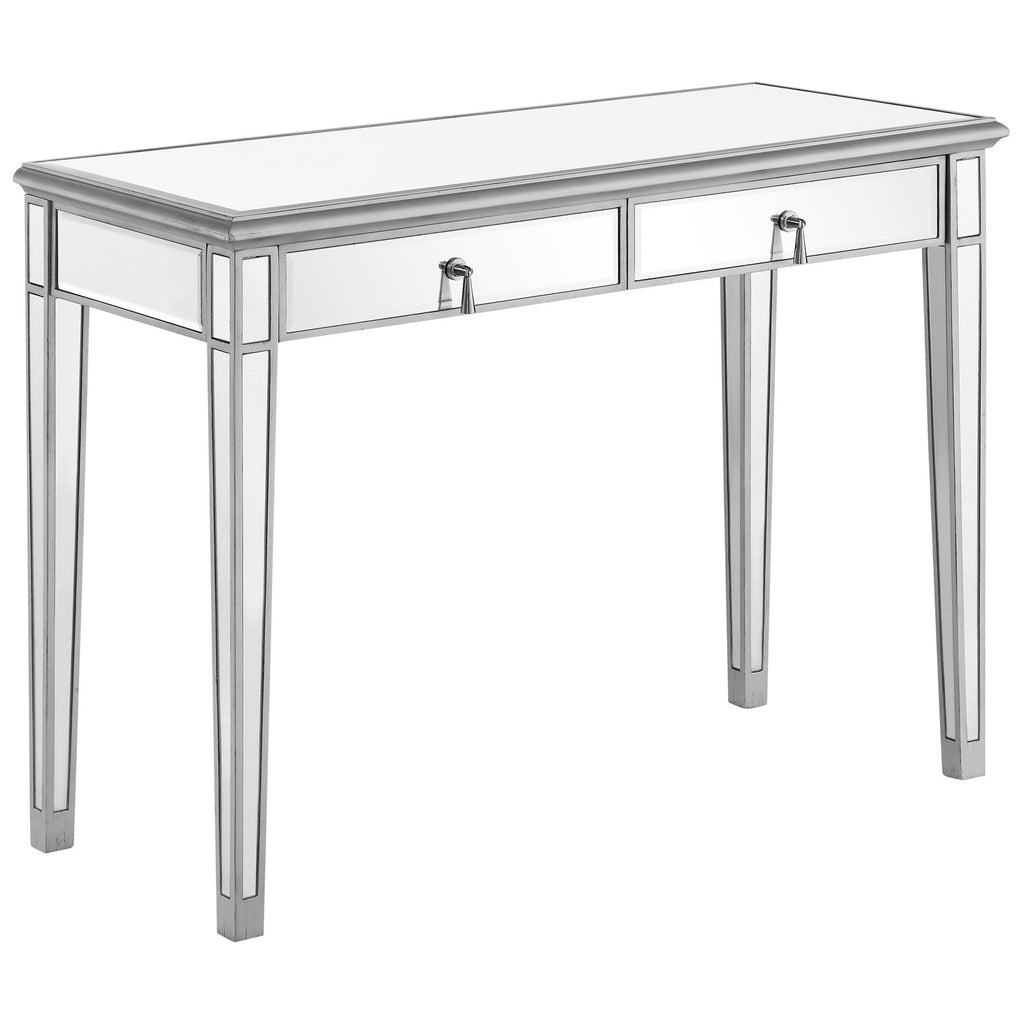 "Vanity Table 42"" in Silver Paint"