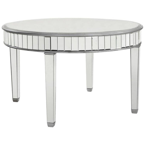 "Round Dining Table 48"" in Silver Paint"