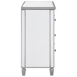 "3-Drawer Bedside Cabinet 33"" in Silver Paint"
