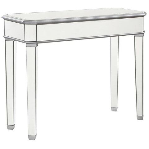 "Rectangle Table 41"" in Silver Paint"