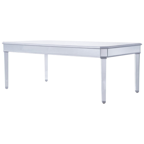 "Dining Table 80"" in Silver Paint"