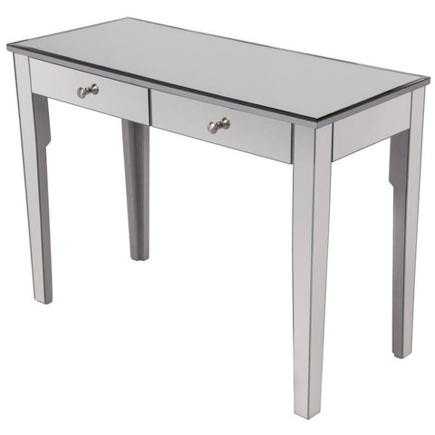 "42"" 2-Drawer Dressing Table in Silver Paint"