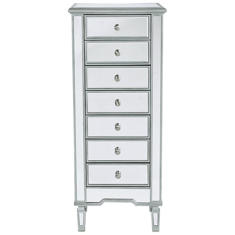 Reflexion Lingerie Large 7-Drawer Chest in Antique Silver Paint