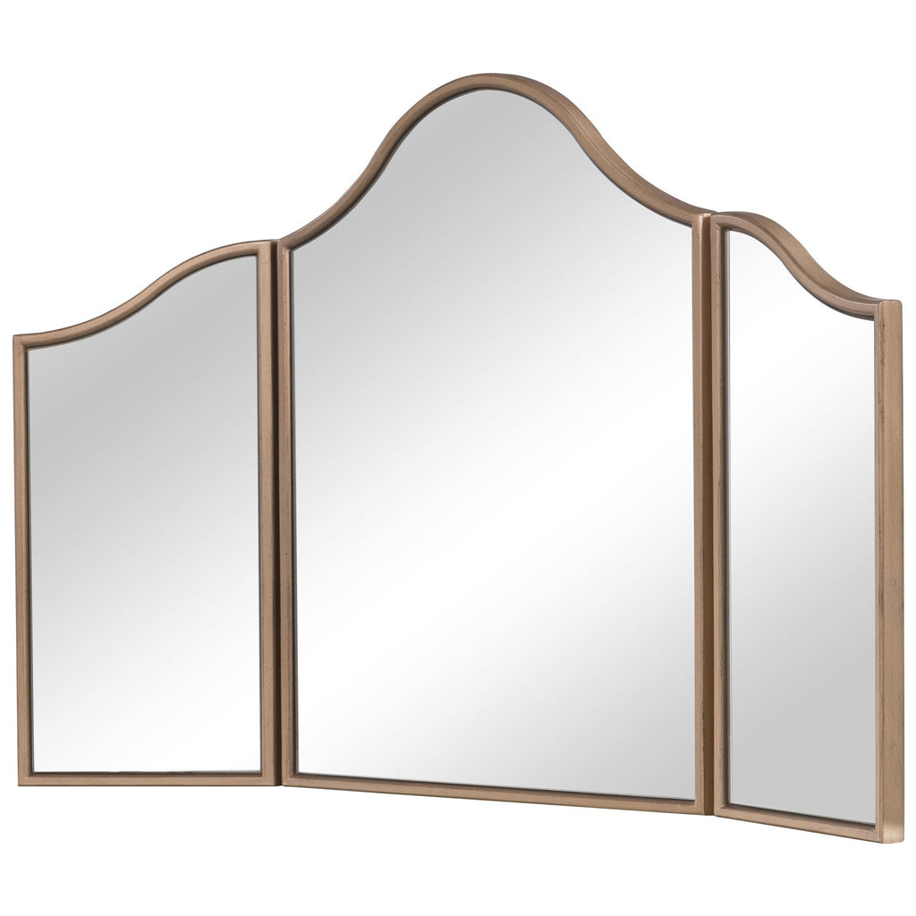 Contempo Dressing Mirror in Gold Paint