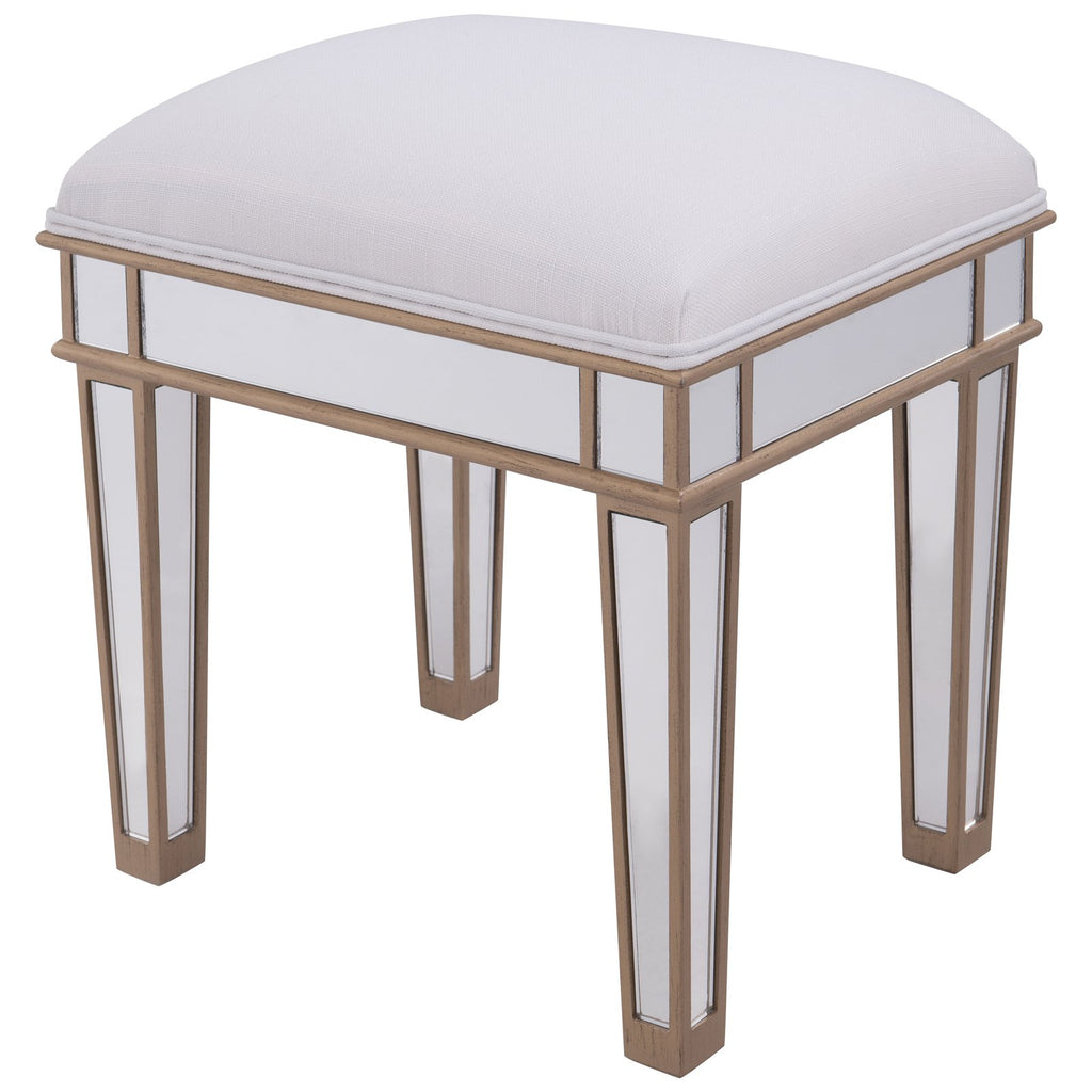 Contempo Dressing Stool in Gold Paint