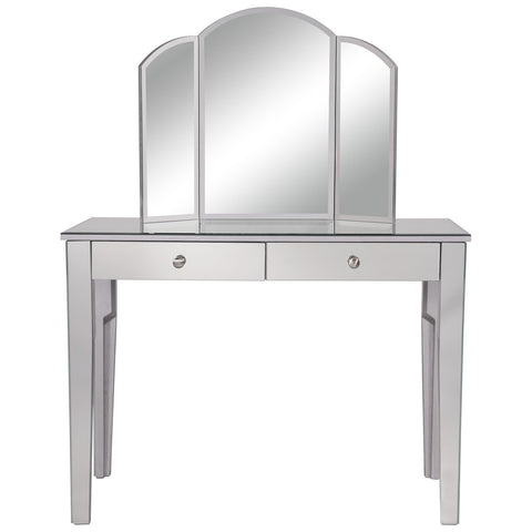 Contempo Vanity Table Set with 32-Inch Mirror