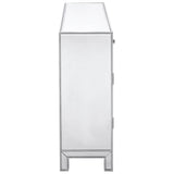 Reflexion 2-Drawer 2-Door Nightstand in Antique Silver Paint