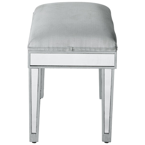Reflexion Dressing Stool in Antique Silver Paint