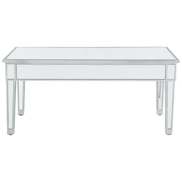 Reflexion Coffee Table in Antique Silver Paint