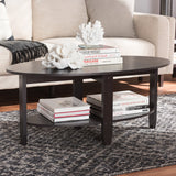 Baxton Studio Ancelina Modern and Contemporary Wenge Brown Finished Coffee Table