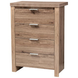 Baxton Studio Laverne Modern and Contemporary Oak Brown Finished 4-Drawer Chest