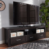 Baxton Studio Ryleigh Modern and Contemporary Wenge Brown Finished TV Stand