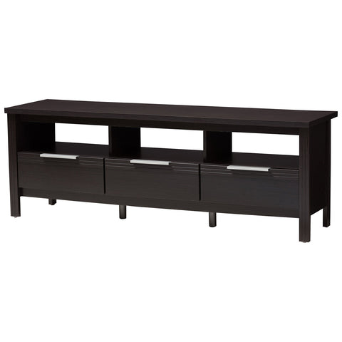 Baxton Studio Elaine Modern and Contemporary Wenge Brown Finished TV Stand