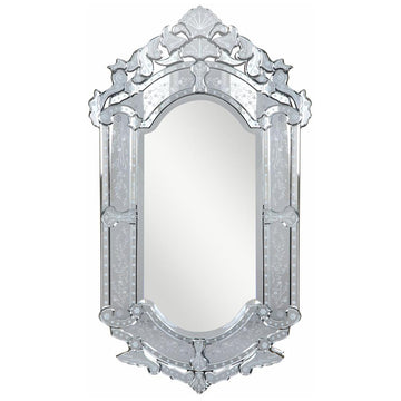 Venetian 27.6-Inch Transitional Mirror in Clear