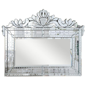 Venetian Transitional Mirror in Clear