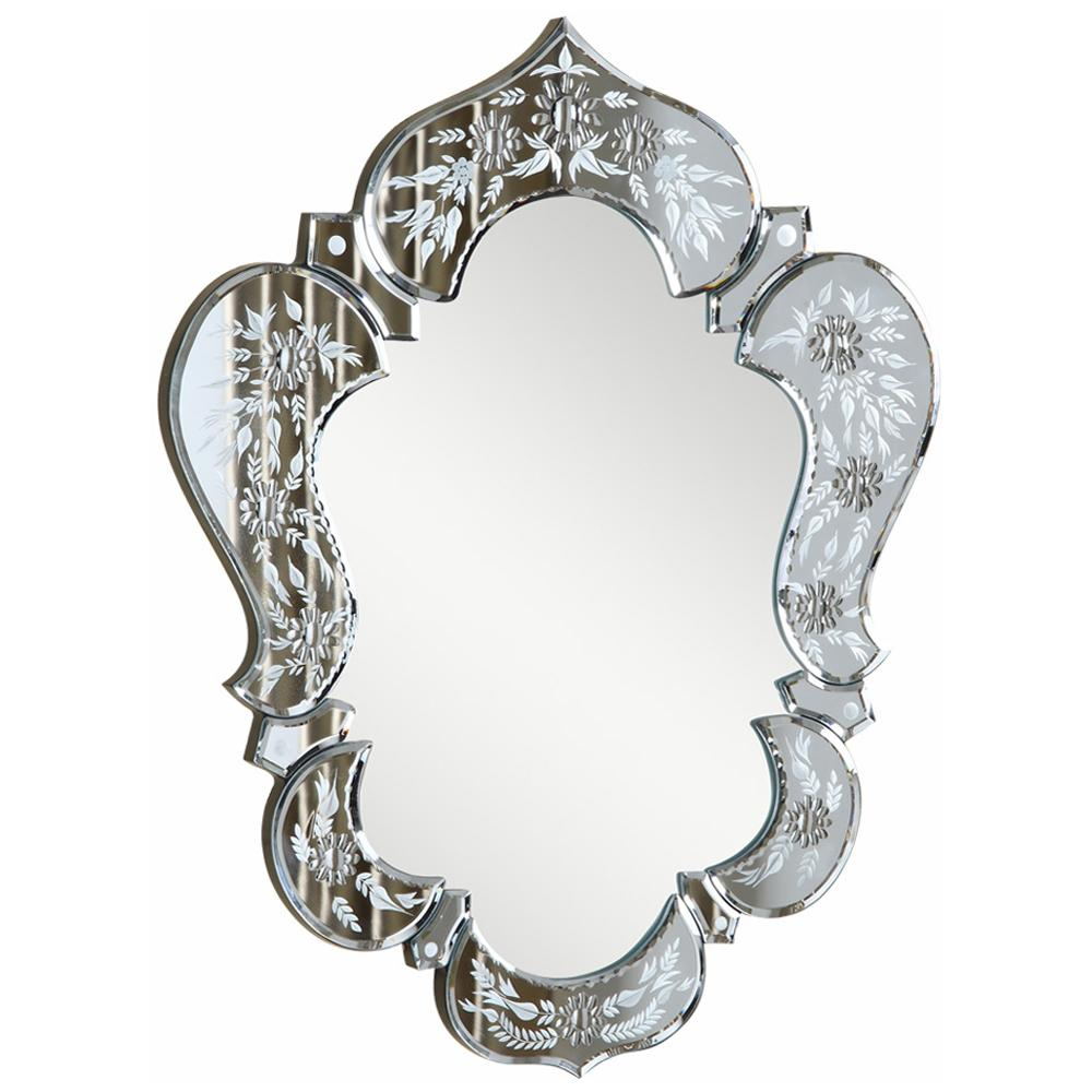Venetian 20.7-Inch Transitional Mirror in Clear