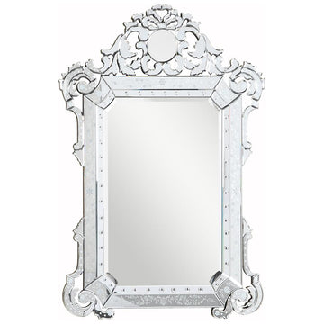 Venetian 39.5-Inch Transitional Mirror in Clear