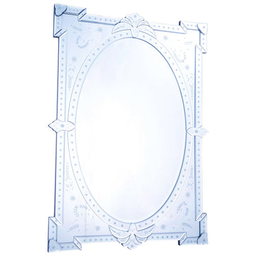 Venetian 29-Inch Transitional Mirror in Clear
