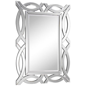 Modern 28-Inch Contemporary Mirror in Clear