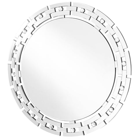 Sparkle 36-Inch Contemporary Round Mirror