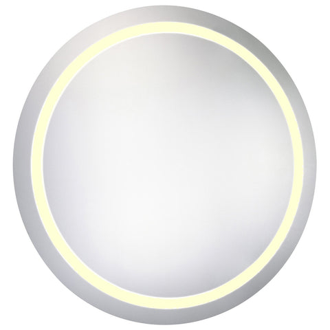 Round Dimmable 3000K LED Hardwired Mirror