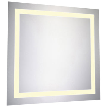 Square Dimmable 3000K LED Hardwired Mirror, 28W x 1.6D x 28H