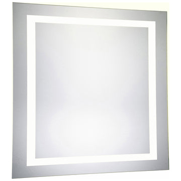 4 Sides Square Dimmable 5000K LED Hardwired Mirror, 36W x 1.6D x 36H