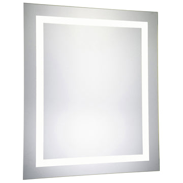 4 Sides Rectangle Dimmable 5000K LED Hardwired Mirror, 32W x 1.75D x 40H