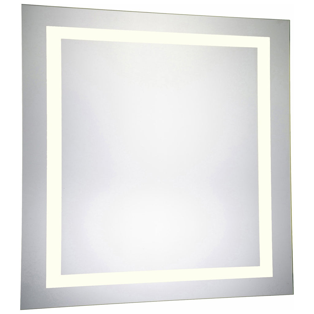 4 Sides Square Dimmable 3000K LED Hardwired Mirror, 36W x 1.75D x 36H