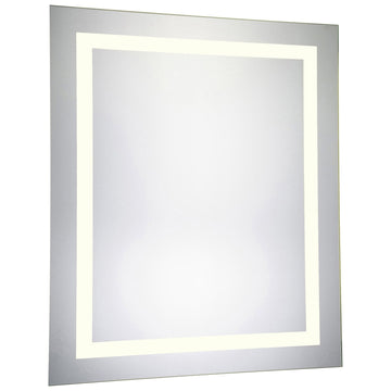 4 Sides Rectangle Dimmable 3000K LED Hardwired Mirror, 32W x 1.75D x 40H