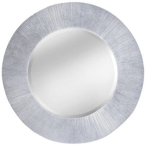 Attra Wall Mirror in Bright Silver