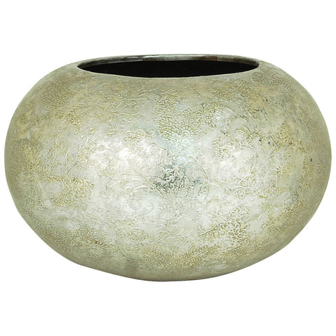 Virginia Planter Round in Embellished Silver