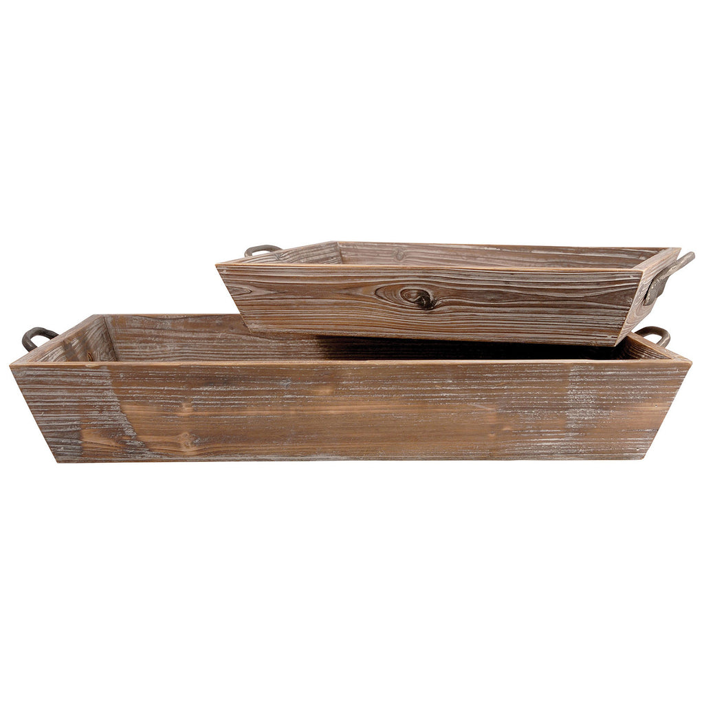 Americana Deep Trays in Antique Paliona and Canyon Rustic, Set of 2