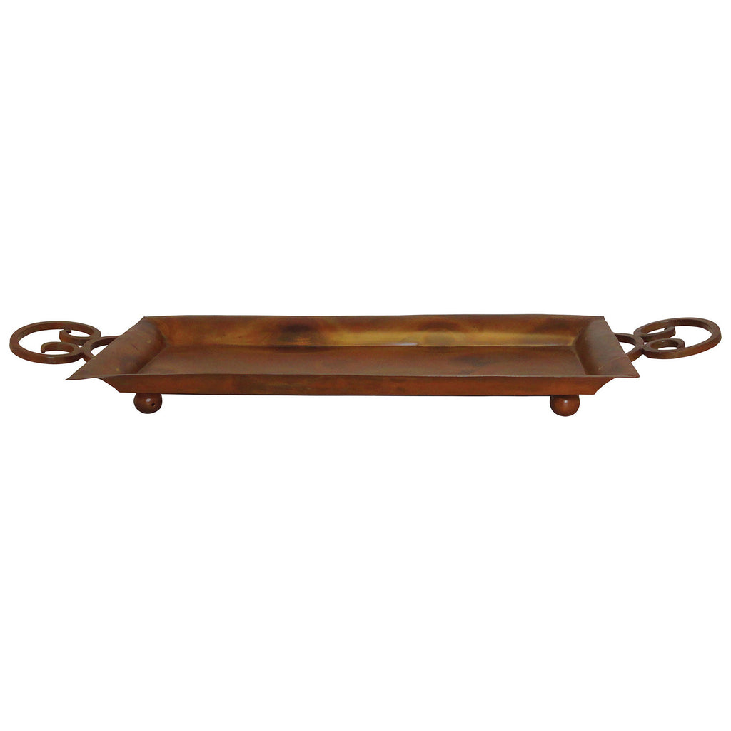 Burnham Tray in Heavy Montana Rustic and Burned Copper