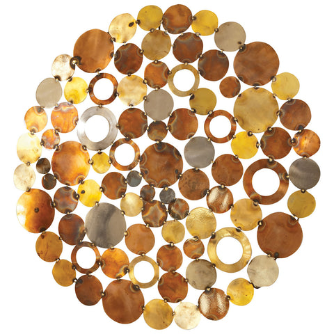 Novell Round Wall Decor in Mixed Metals