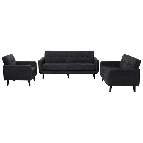 Baxton Studio Carina Modern Fabric Upholstered 3-Piece Living Room Set