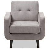 Baxton Studio Carina Modern Fabric Upholstered Lounge Chair