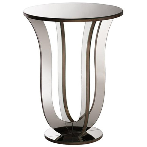 Kylie Hollywood Regency Glamour Style Mirrored Accent Side Table
