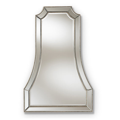 Baxton Studio Sanna Antique Silver Finished Accent Wall Mirror