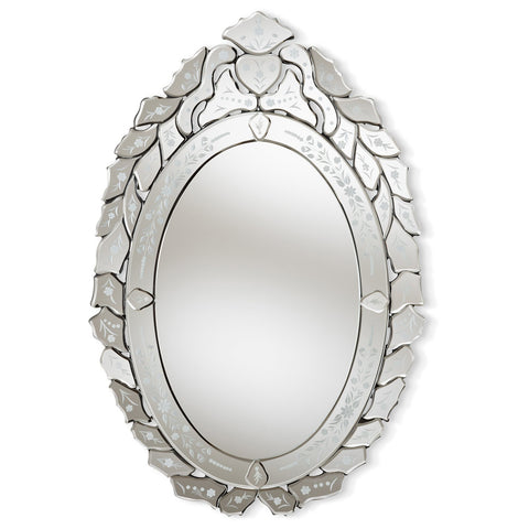 Baxton Studio Livia Classic and Traditional Silver Venetian Accent Wall Mirror
