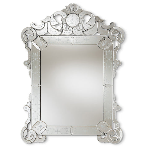 Baxton Studio Floriana Classic Traditional Silver Venetian Accent Wall Mirror