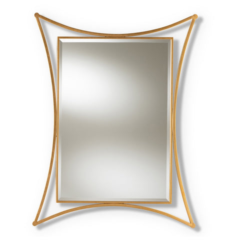 Baxton Studio Melia Antique Gold Finished Rectangular Accent Wall Mirror