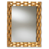 Baxton Studio Arpina Antique Gold Finished Rectangular Accent Wall Mirror