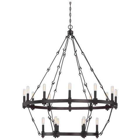 Adria 18-Light Chandelier in English Bronze