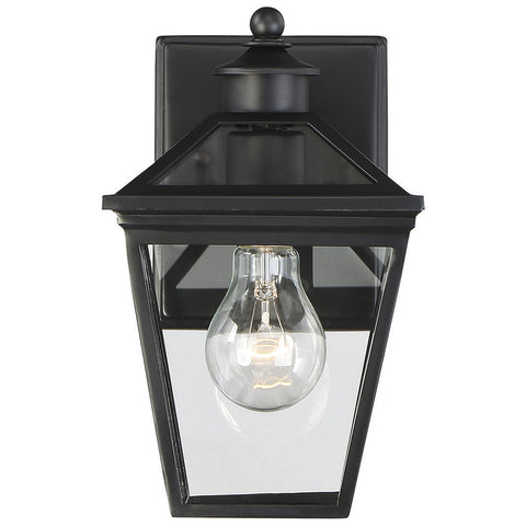 "Ellijay 7"" Steel Wall Lantern in Black"