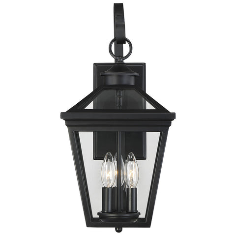 "Ellijay 9"" Steel Wall Lantern in Black"